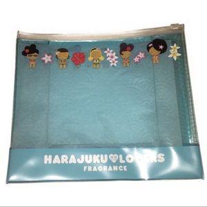 🦋 Harajuku Lovers plastic fragrance cosmetic bag